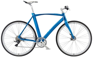 Avenue Airbase Silver Blue with White Shiny <BR>- 2019 Herre sportscykel
