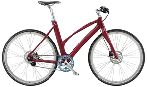 Avenue Broadway Dark Red Shiny <BR>- 2019 Dame citybike cykel
