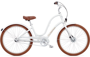 Electra Townie Balloon 3i Hvid<BR>- 2018 Dame citybike cykel