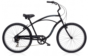 Electra Cruiser 7D Sort<BR> - 2018 26&quot; Herre cruiser
