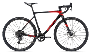 Giant TCX Advanced Sort/Rød <BR> - 2019 Carbon cross cykel TILBUD