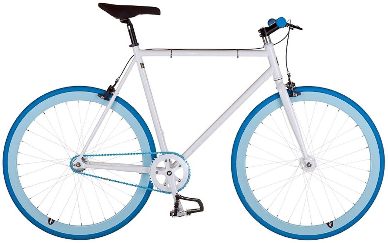 Ruben - DK301 Hvid/Blå - 2015 Fixie cykel SUPER-TILBUD