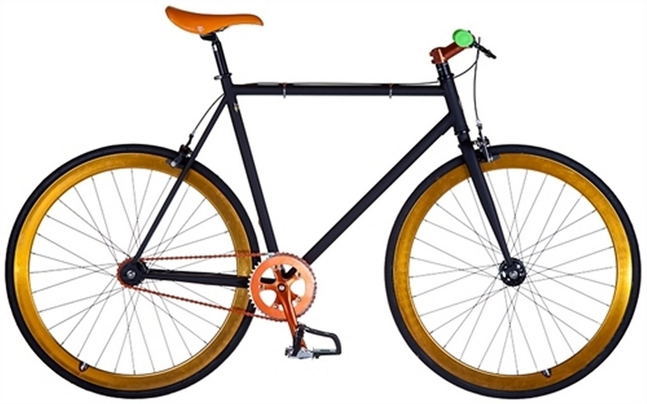 Ruben - DK301 Sort/Orange - 2015 Fixie cykel SUPER-TILBUD